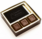 Business Card Gold Insert Candy Box with Clear Lid
