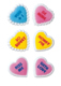 Dec-Ons® Molded Sugar - Hearts w/ Messages