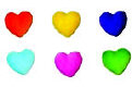 Dec-Ons® Molded Sugar - Mini Heart-Rainbow Colors