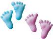 Dec-Ons® Molded Sugar - Baby Feet-Pink & Blue