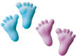 Dec-Ons® Molded Sugar - Baby Feet-Pink & Blue