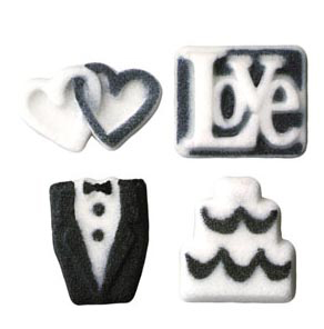 Dec-Ons® Molded Sugar - Wedding Assortment