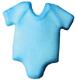 Dec-Ons® Molded Sugar - Baby Blue Onepiece