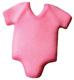 Dec-Ons® Molded Sugar - Baby Pink Onepiece