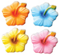 Dec-Ons® Molded Sugar - Hibiscus Assortment