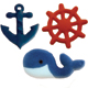 Dec-Ons® Molded Sugar - Nautical Assortment