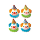 Dec-Ons® Molded Sugar - Clown Assortment