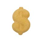 Dec-Ons® Molded Sugar - Gold Dollar Sign