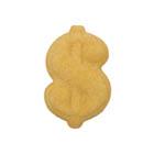 Dec-Ons® Molded Sugar - Gold Dollar Sign