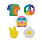 Dec-Ons® Molded Sugar - Peace & Love Assortment