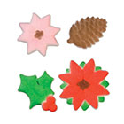 Dec-Ons® Molded Sugar - Poinsettia and Holly