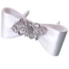 Bow w/ Rhinestone Brooch Cake Pick Decoration