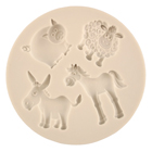Farm Animals Silicone Mold