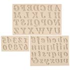 Alphabet & Numbers Silicone Mold Set