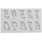Comic Book Numbers Silicone Mold