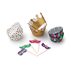 Mardi Gras Cupcake Kit