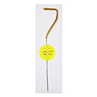 Gold Number 7 Sparkler Candle