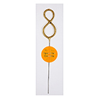 Gold Number 8 Sparkler Candle