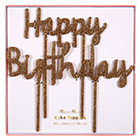 Happy Birthday Cake Pick Set