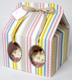 Cupcake Box - Pink Striped