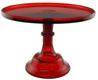 """Cake Stand -  Red 12"""""""