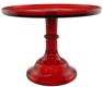 Cake Stand - Red 9""