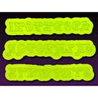 Swirly Uppercase Flexabet™ Silicone Mold