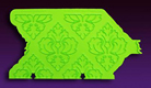 Damask Silicone Onlay Mold