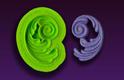 Right Swirl Silicone Mold