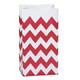 Red Chevron Paper Gift Bags