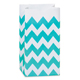 Turquoise Chevron Paper Gift Bags