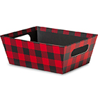 Buffalo Plaid Market Tray