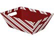 Peppermint Stripe Market Tray