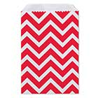 Small Red Chevron Paper Bags