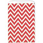 Large Red Chevron Paper Bags