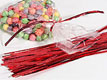 "6"" Twist Ties-Metallic Red"