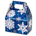 1/2 lb. Blue Snowflake Mini Treat Box