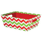 Holiday Chevron Extra Large Market Tray