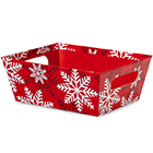Red Snowflake Market Tray - Extra Large