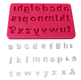 Lower Case Alphabet Silicone Mold