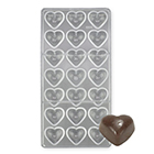 Pillow Heart Polycarbonate Chocolate Candy Mold