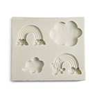 Rainbow and Cloud Silicone Mold