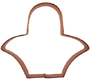 Copper Cookie Cutter-Easter Basket