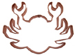Copper Cookie Cutter-Crab