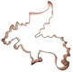 Copper Cookie Cutter - Dragon