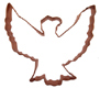 Copper Cookie Cutter-Eagle
