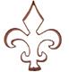 Copper Cookie Cutter-Fleur De Lis