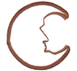 Man/Moon Copper Cookie Cutter