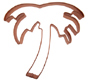 Palm Tree Copper Cookie Cutter