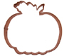 Pumpkin Copper Cookie Cutter
